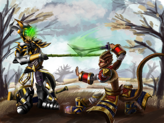 LoL Digi-Art Throwdown: Master Yi and Wukong