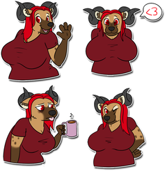 Charelle stickers