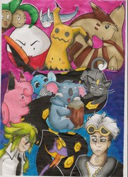 Pokemon sheet [Commission / Alcohol markers]