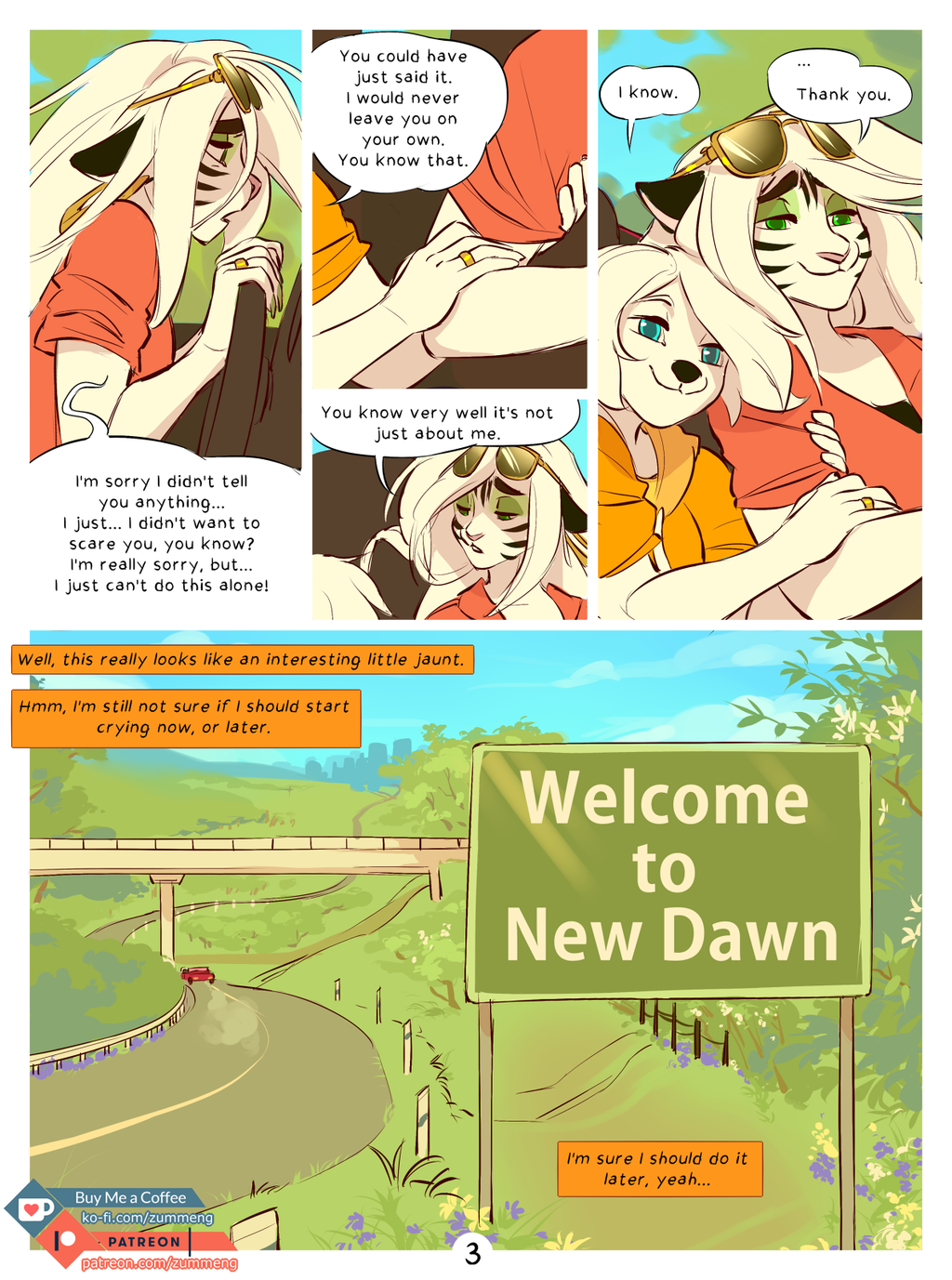 Welcome to New Dawn pg. 3.
