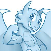 White Eyes Toon Dragon