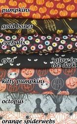 Spooky bandanna fabrics!