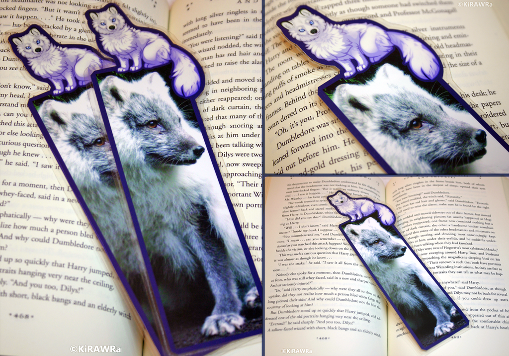 Arctic Fox Companion Bookmark