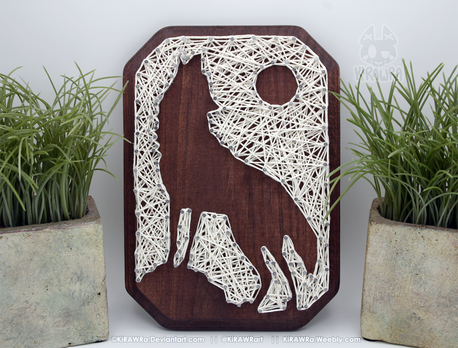 String art: Awoo!