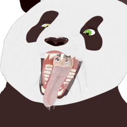 Back of a Panda Throat