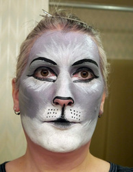 Gray cat makeup practice 1