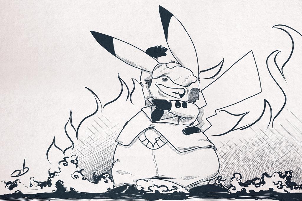 Inktober Day 5: Team Flare Pikachu — Weasyl