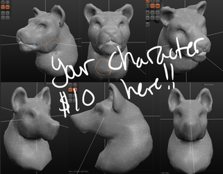 Your Character Here Busts 3D $10
