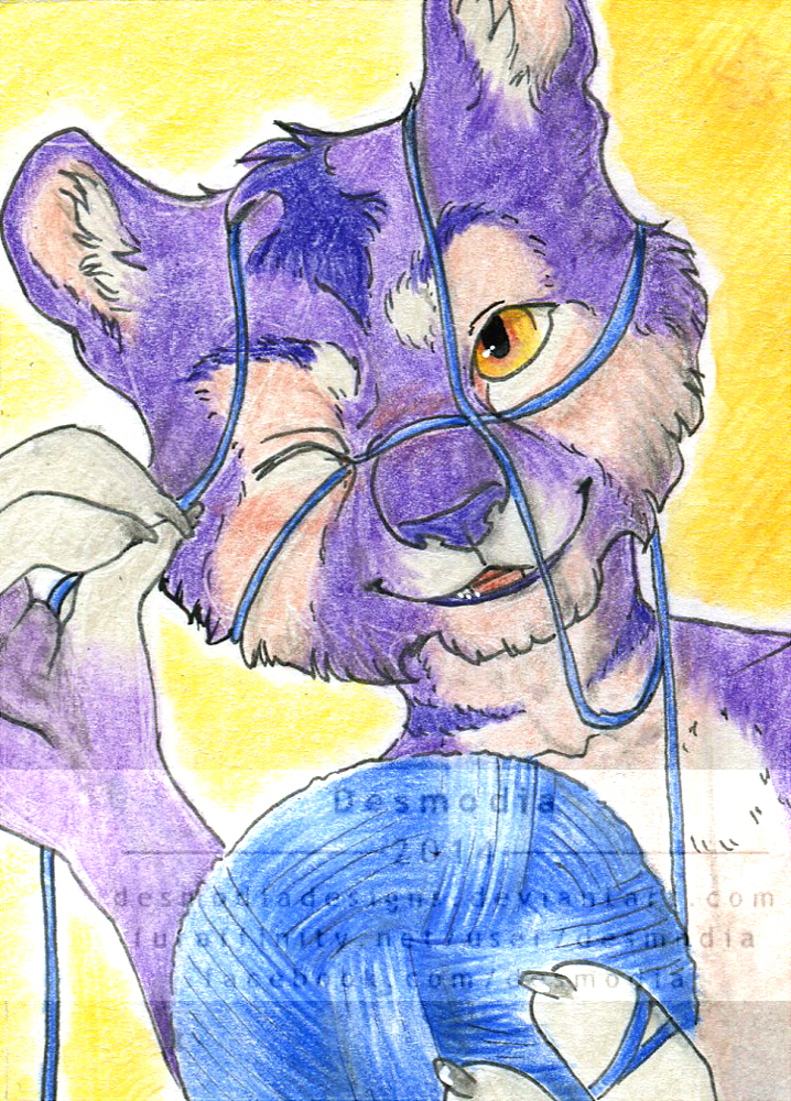 """ACEO #16: """"the wool fool"""" [trade]"""