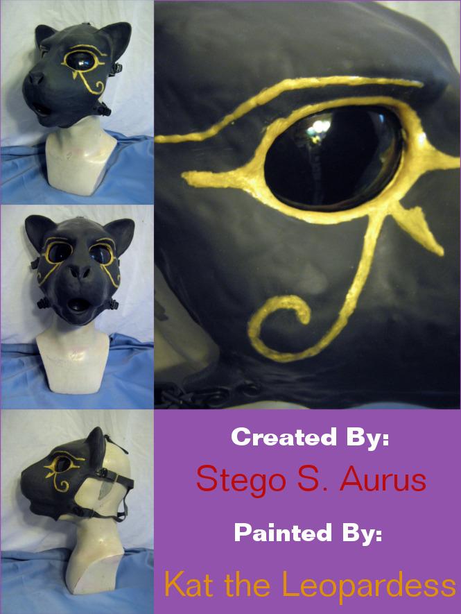 Painted Gas Mask: Bast 2