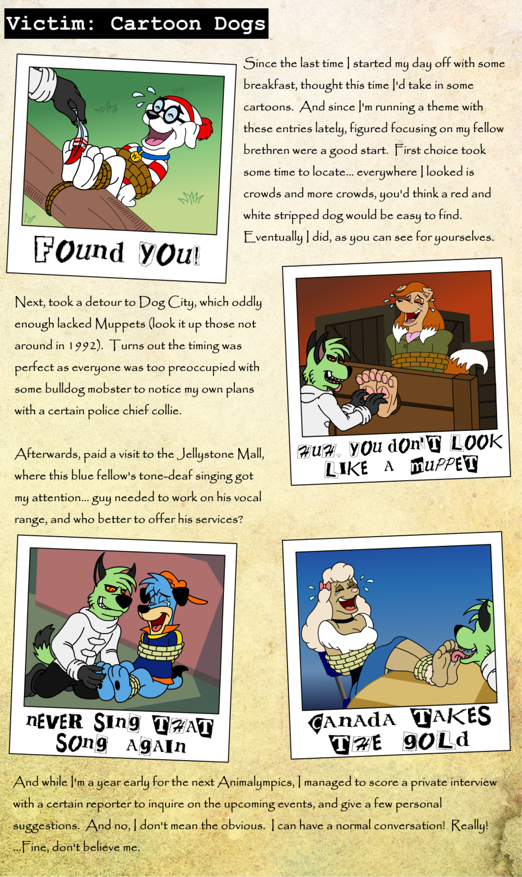 Victim 21: Cartoon Dogs