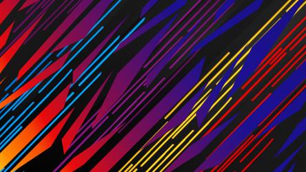 Techno Zebra Wallpaper