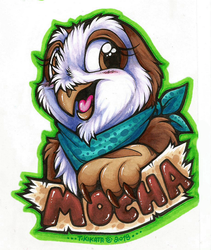 Mocha Alba the Owlbear (Badge)