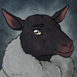 Happy Silver Sheep by Eastern Dragon Studios