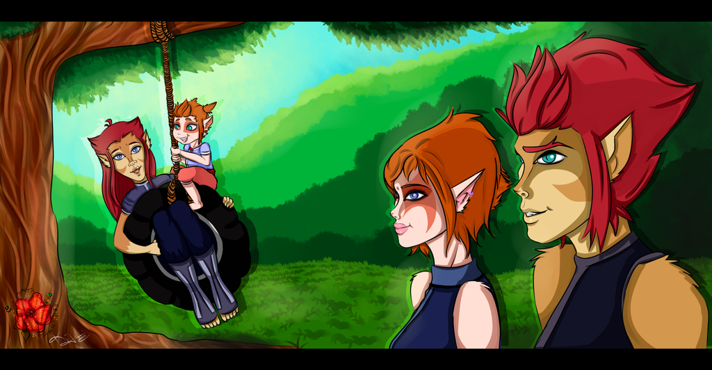 [Commish] Family Outing - midsummeraria