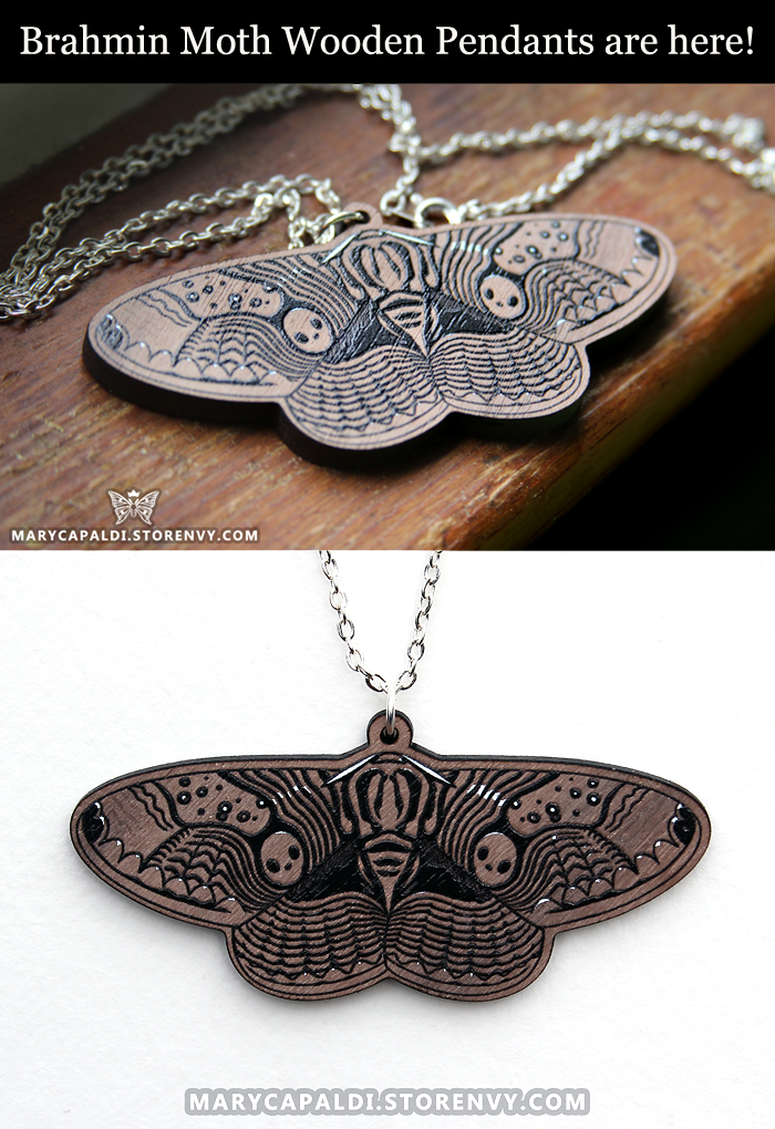 Brahmin Moth Wooden Pendants