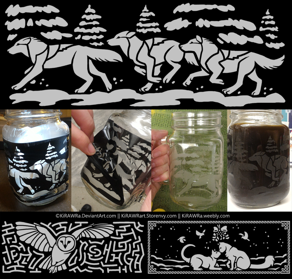 Etched Glass Mugs Creation Process