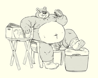 summer bear sketch