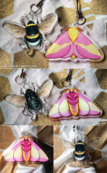 Rosy Maple and Bumblebee Charms!