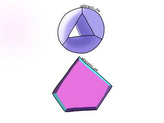 Personal art (Purple Kunzite's gemstones)