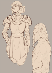 Purity and Frank warrior sketches