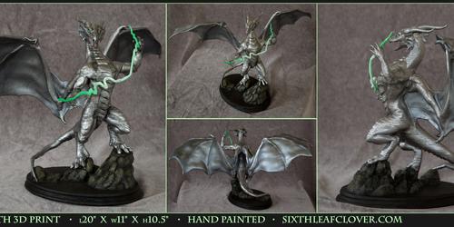 Heavens Wrath 3D Print Sculpture