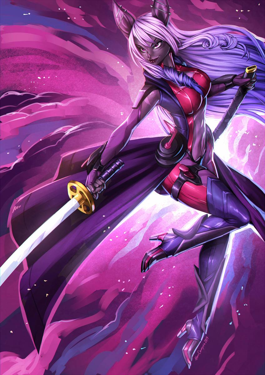 Bat Swordswoman