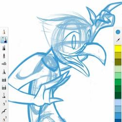 Bird Lady Monster Girl WiP