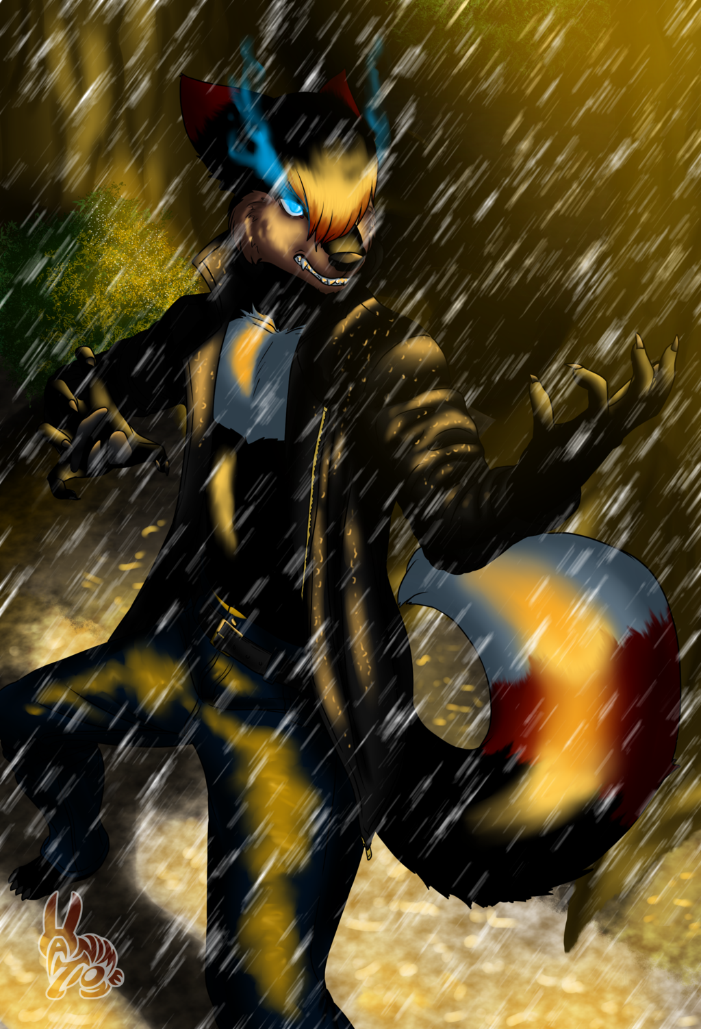 Koekoek19 commission - Rumble in the rain