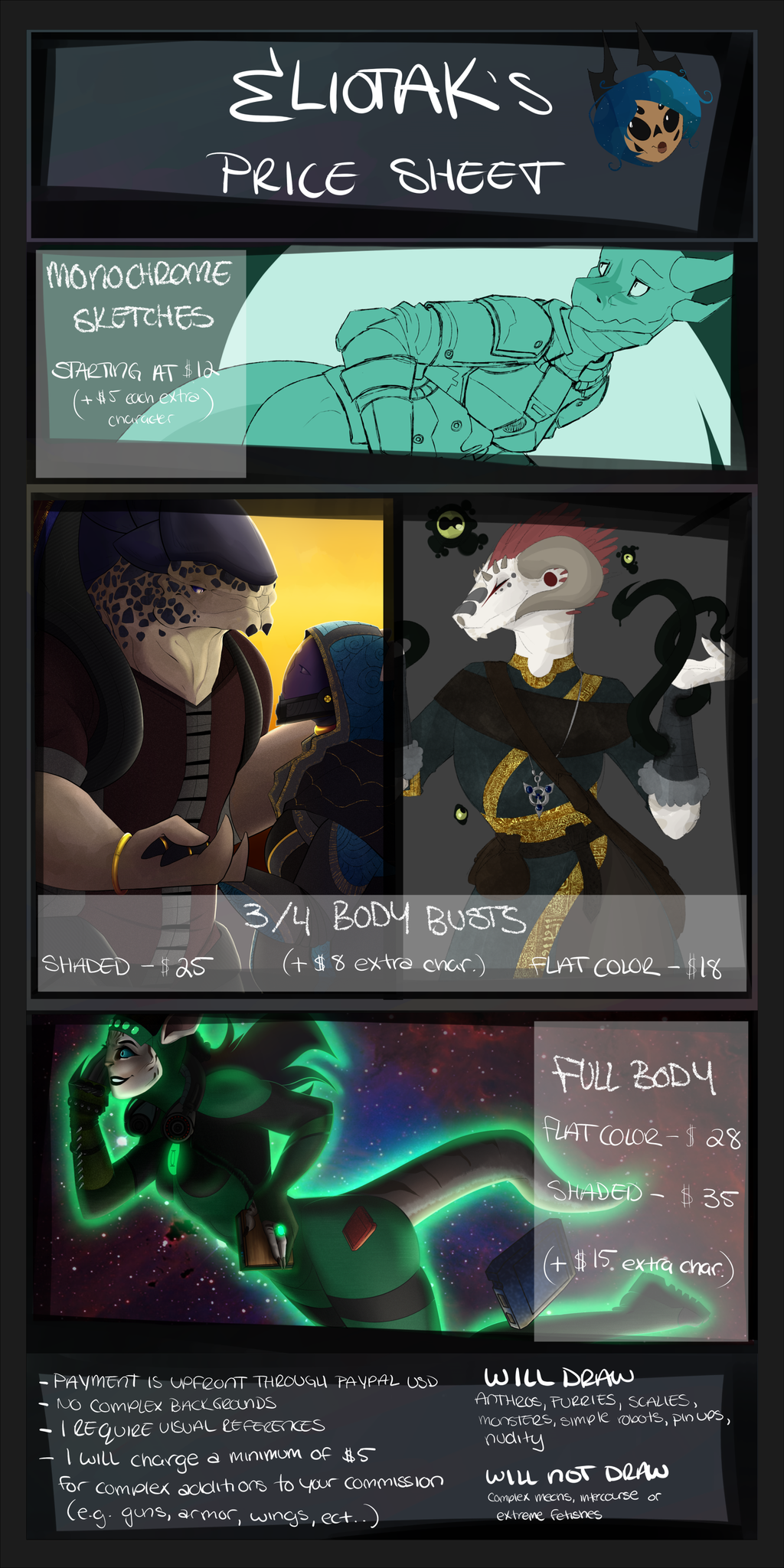 Price Sheet | Commissions: Open