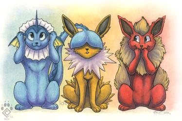 Three Wise Eeveelutions