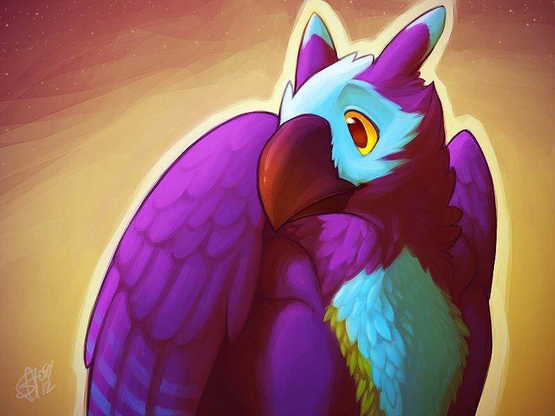 Portrait of a Purple Gryph
