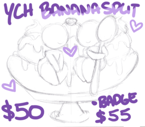 YCH Banana Split COUPLE $50