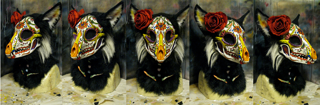 Day of the Dead fox mask