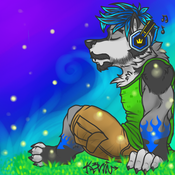 Most recent image: Let the sounds hold you (colored)