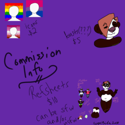 Commission infos
