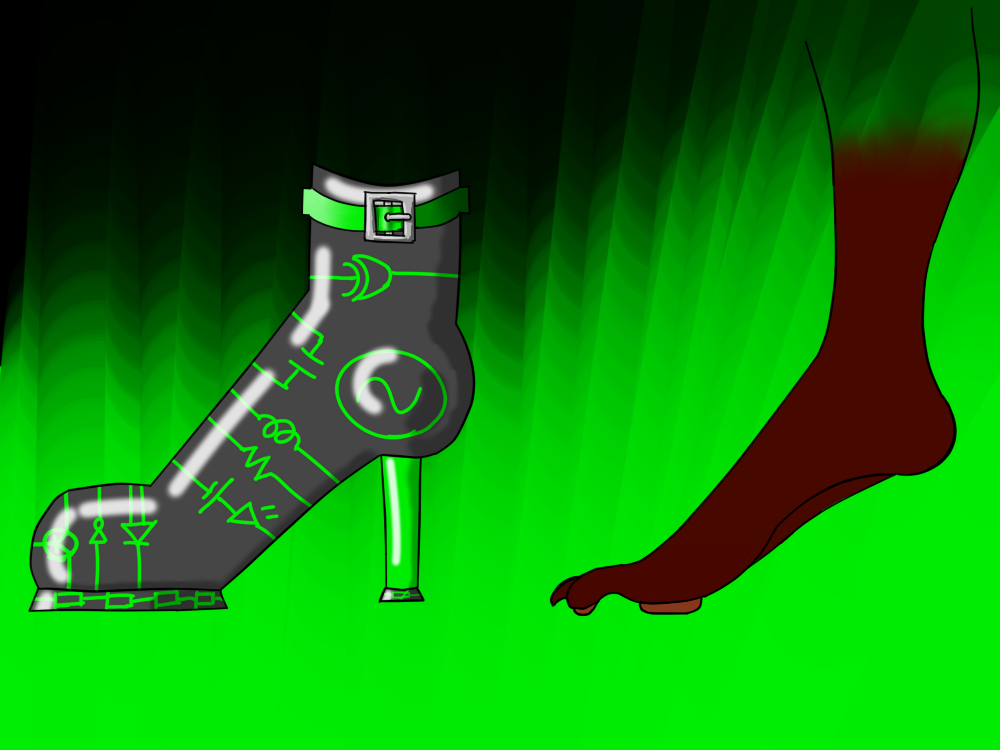 Techno-boots to fix a thing.