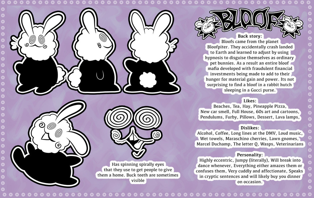 Bloof Reference Sheet