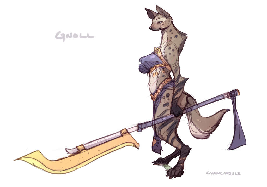 Most recent image: Gnoll concept for Sexena