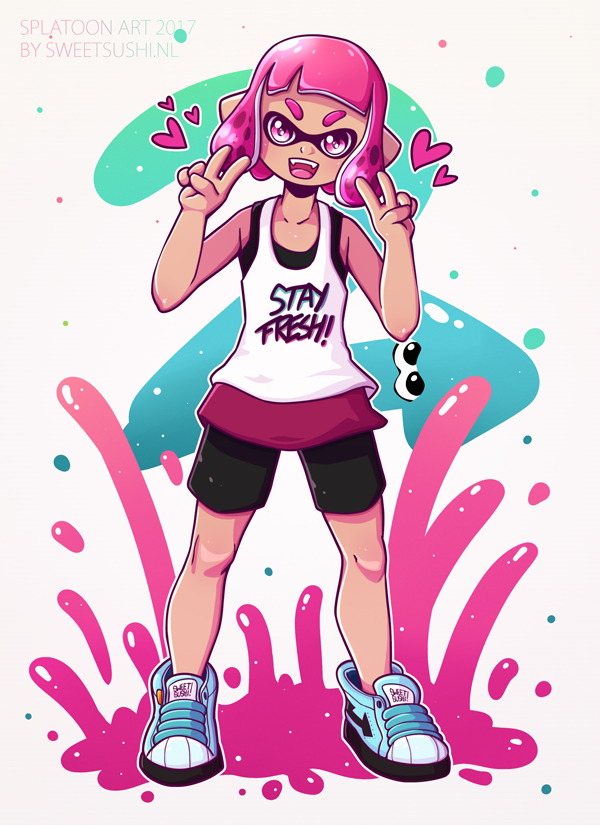 Stay Fresh! Splatoon Fan Art! ♥