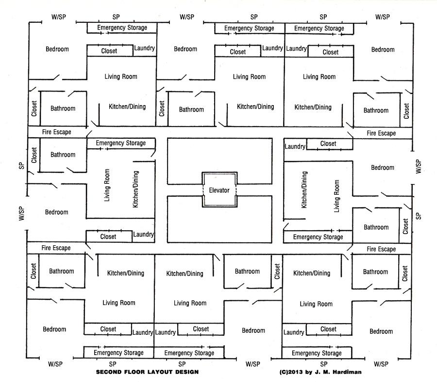 Caterwaul Apartment Complex Floor 2
