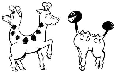 Girafarig and Girafarig
