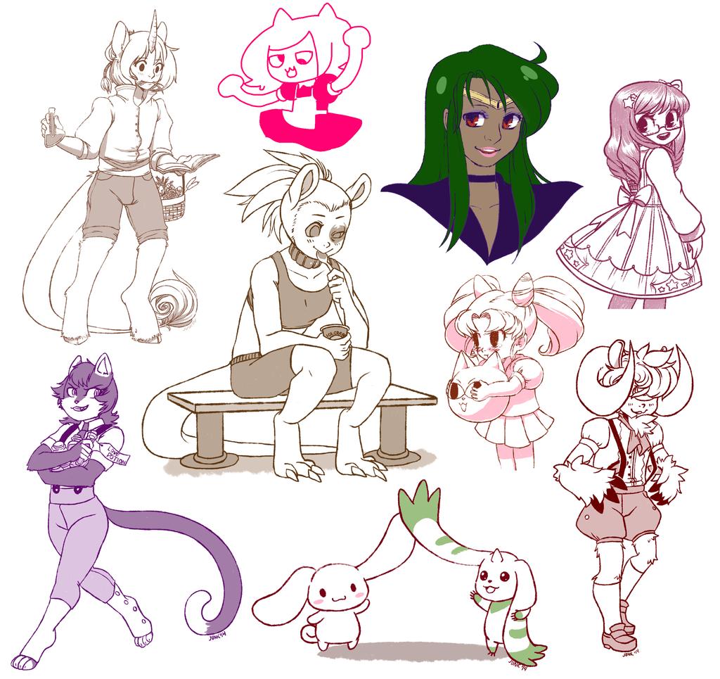 Feb Doodles Set 1