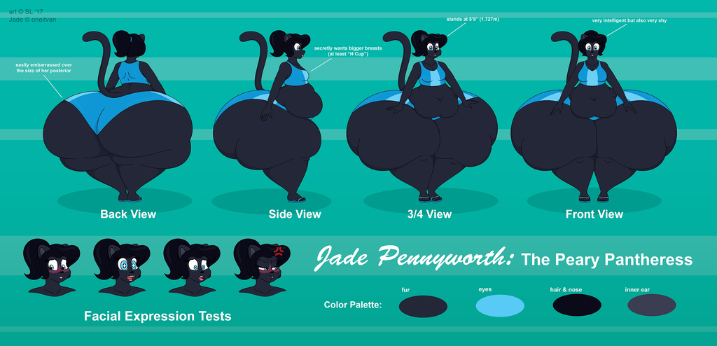 Jade Pennyworth Reference Sheet