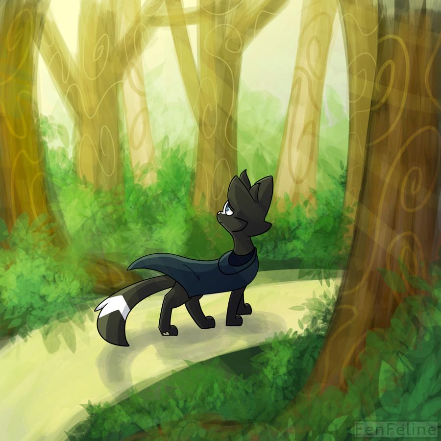 [Speedpaint] Forest Walk (link in description)