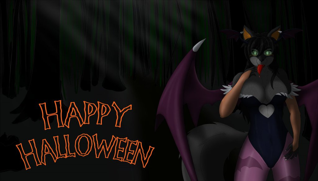 Jenna Commission as Morrigan Halloween picture