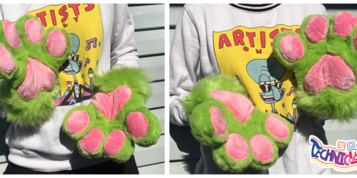 (FOR SALE) Lime Green Fursuit Handpaws