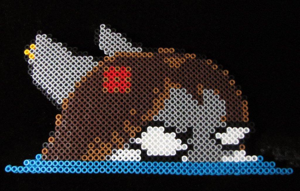 Angry Sharky Perler Bead