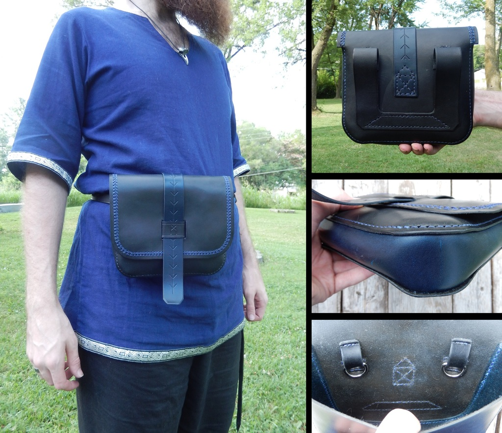 Leather Projects - Large Pouch