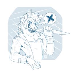 Knife Wolf (sketch)